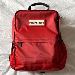Hunter Original Nylon Backpack in Red
